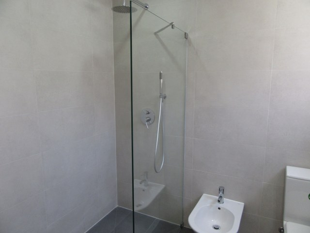 1st Modern bathroom with spacious walk-in shower