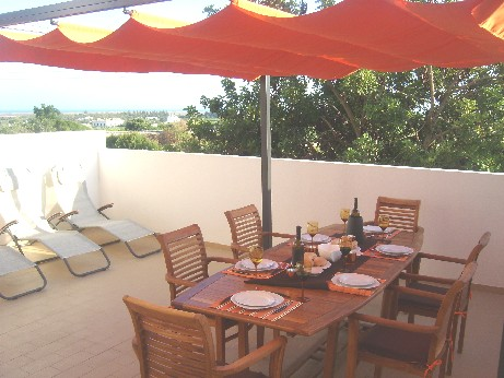 South facing ground floor terrace 2 bedroom apartment Tavira, with sea view
