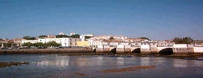 The Roman bridge in the center of Tavira